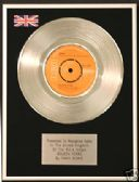 "DAVID BOWIE - 7"" Platinum Disc -  GOLDEN YEARS"